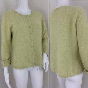 APOSTROPHE Cardigan ANGORA Sweater Large